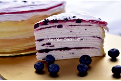 Blueberry Mille Crepe